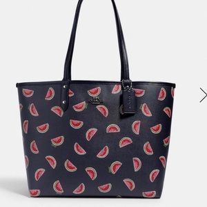 NWT Coach watermelon reversible tote handbag